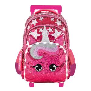 Mochila con Carrito de Unicornio con Luz Led Mochilas Escolares Tienda Online en Argentina